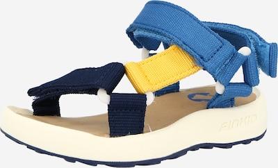 FINKID Sandales 'NAUHA' en bleu marine / bleu ciel / jaune, Vue avec produit