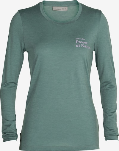 ICEBREAKER Shirt 'Power of Nature' in grün / flieder, Produktansicht