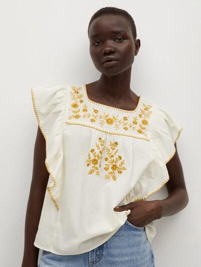 Bluză 'Mexican' MANGO pe galben auriu / alb amestacat, Vizualizare model