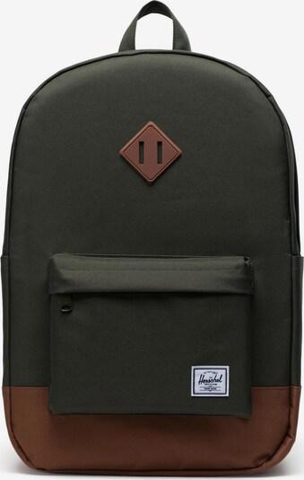 Herschel Sac à dos en chamois / vert foncé, Vue avec produit