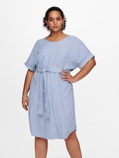 ONLY Carmakoma Kleid in royalblau / weiß, Modelansicht