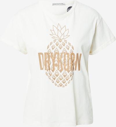 DRYKORN T-Shirt 'Larima' in ecru / hellbraun, Produktansicht