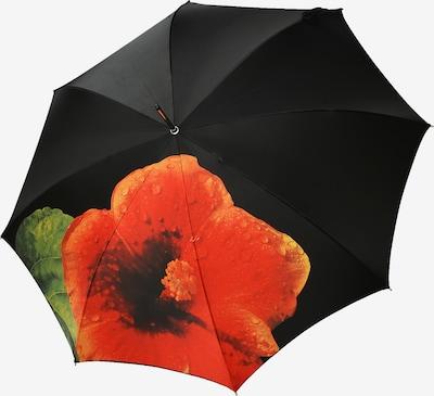 Doppler Manufaktur Regenschrim 'Elegance Noblesse' in grün / orange / schwarz, Produktansicht