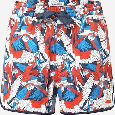 Tommy Jeans Shorts in rauchblau / dunkelblau / rot / weiß, Produktansicht