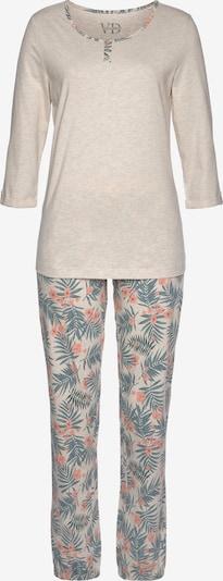LASCANA Pyjama in beige / mischfarben, Produktansicht