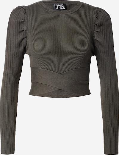 Parallel Lines Shirt in dunkelgrün, Produktansicht