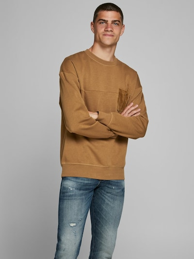JACK & JONES Sweatshirt in de kleur Lichtbruin: Vooraanzicht