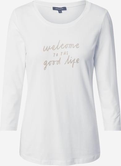 MORE & MORE Shirt in beige / naturweiß, Produktansicht
