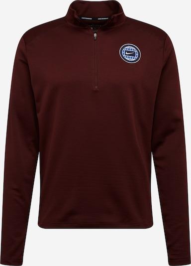NIKE Sportsweatshirt 'Pacer Wild Run' in weinrot / schwarz / weiß, Produktansicht