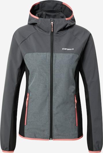 ICEPEAK Outdoor jacket 'DECORAH' in Dark grey / mottled grey / Light pink / Black, Item view
