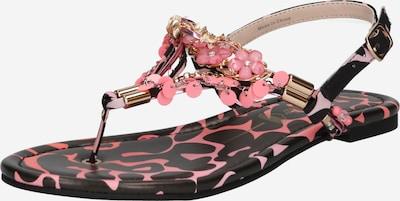 Šlepetės per pirštą 'REBECCA' iš BUFFALO , spalva - rožinė / juoda, Prekių apžvalga