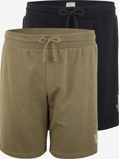 Jack & Jones Plus Pantalon en bleu marine / olive / blanc, Vue avec produit