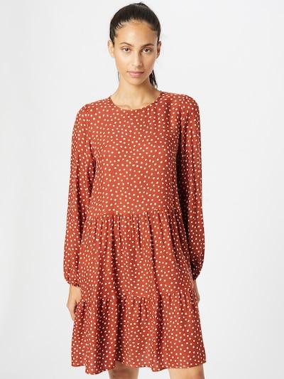 Kauf Dich Glücklich Kleid in mandarine / weiß, Modelansicht