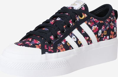 ADIDAS ORIGINALS Sneaker 'Nizza Platform' in navy / lila / orange / rosa, Produktansicht