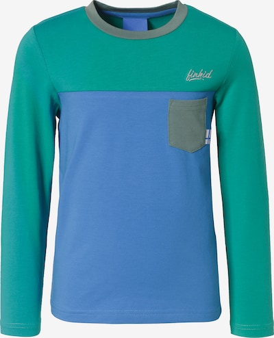 FINKID Langarmshirts 'Puomi' in blau / grau / dunkelgrün, Produktansicht