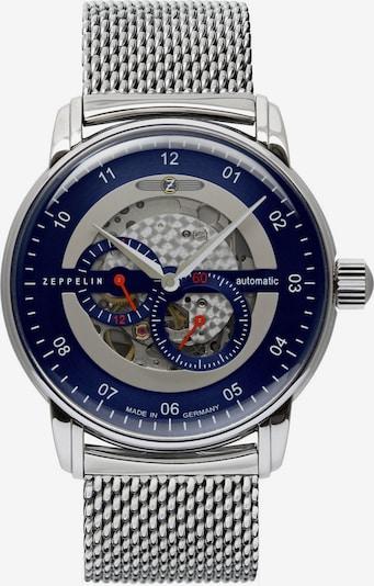 Zeppelin Uhr in silber, Produktansicht