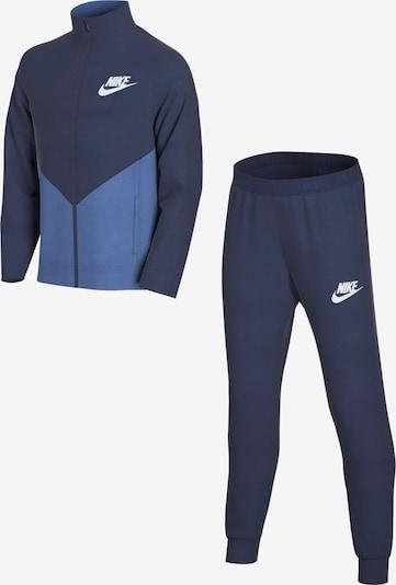 Nike Sportswear Trainingsanzug in marine / rauchblau / weiß, Produktansicht