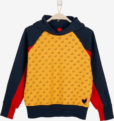 s.Oliver Sweatshirt in blau / orange / rot, Produktansicht