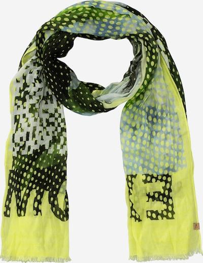 CAMEL ACTIVE Schal in gelb / hellgrau / grün / schwarz, Produktansicht