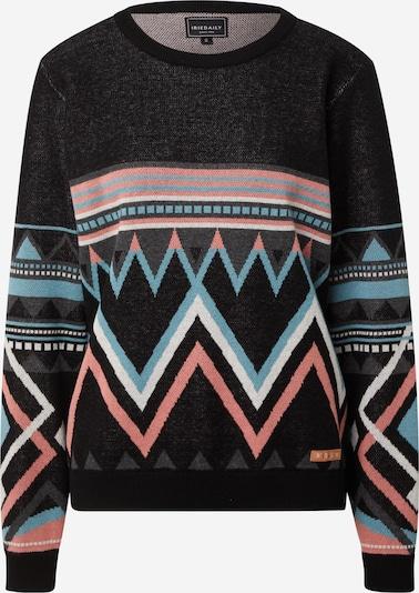 Iriedaily Pullover 'Hopi' in türkis / rosa / schwarz / weiß, Produktansicht