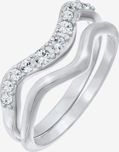 ELLI Ring Kristall Ring, Ring Set in silber, Produktansicht