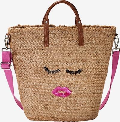 Crickit Strandshopper 'Malaga' in beige / braun / pink, Produktansicht