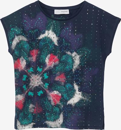 Desigual T-Shirt 'LONDRES' en bleu marine / émeraude / violet foncé / grenadine / blanc, Vue avec produit