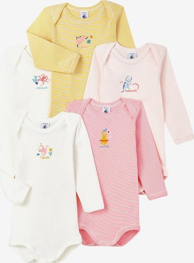 PETIT BATEAU Body in gelb / pink / weiß, Produktansicht
