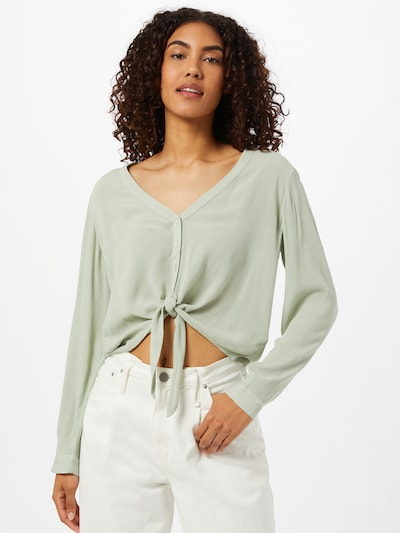 ABOUT YOU Bluse 'Dylane' in pastellgrün, Modelansicht