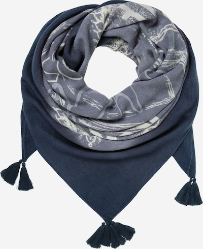 Soccx Tuch mit Dip-Dye-Effekt und Print in blau, Produktansicht