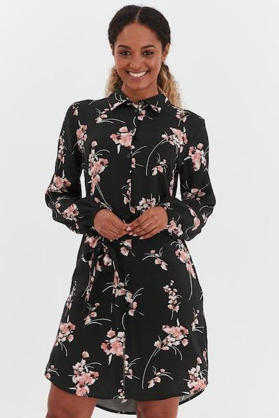 b.young Hemdblusenkleid in schwarz, Modelansicht