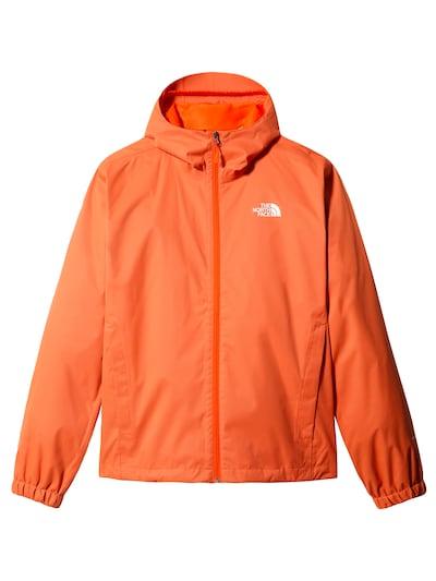 THE NORTH FACE Μπουφάν πεζοπορίας 'Quest' σε σκούρο πορτοκαλί / λευκό, Άποψη προϊόντος