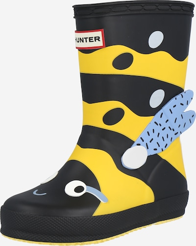 HUNTER Rubber boot in Yellow / Black, Item view