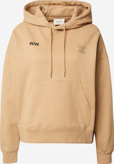 WOOD WOOD Sweatshirt 'Mary' in hellbraun / schwarz, Produktansicht