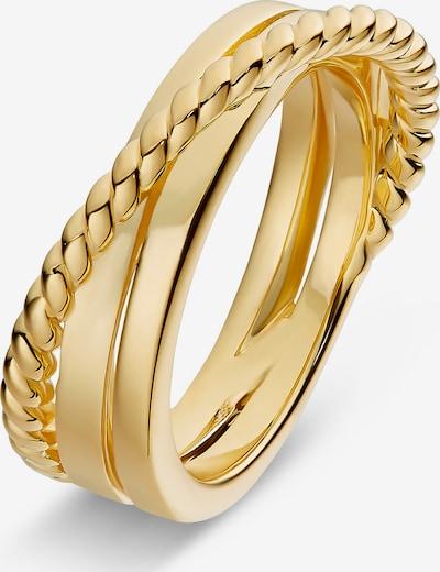 JETTE Damenring 925er Silber in gold, Produktansicht