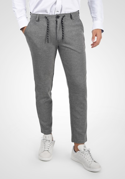 BLEND Chinohose 'Stanko' in grau / schwarz, Modelansicht