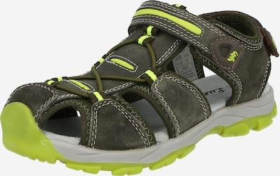LURCHI Chaussures ouvertes 'BORIS' en citron vert / olive, Vue avec produit