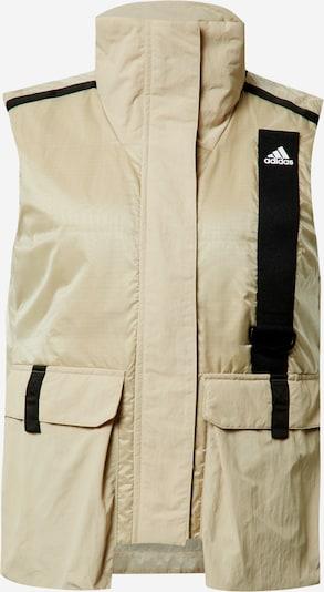 ADIDAS PERFORMANCE Sportbodywarmer in de kleur Beige / Zwart, Productweergave
