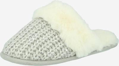 NEW LOOK Pantoufle 'QUIN' en gris clair / argent / blanc, Vue avec produit
