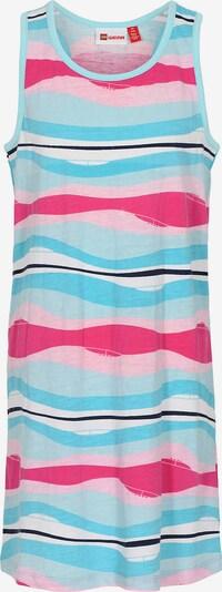 LEGO WEAR Kleid 'Dagny' in hellblau / pink / schwarz / weiß, Produktansicht