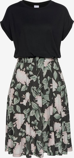 BUFFALO Kleid 'Cottage Paperba' in grün / rosa / schwarz, Produktansicht