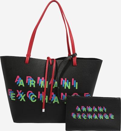 ARMANI EXCHANGE Cabas en mélange de couleurs / noir, Vue avec produit