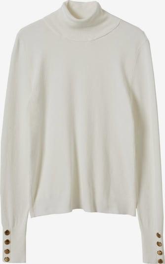 MANGO Pullover 'Jacksonc' in ecru / gold, Produktansicht