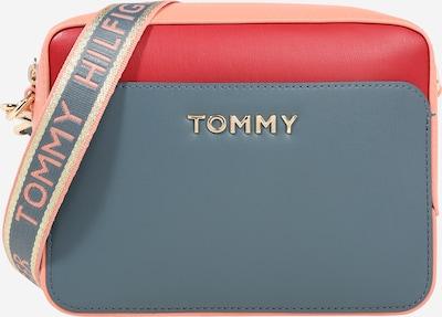 TOMMY HILFIGER Torba za fotoaparat u sivkasto plava / roza / crvena: Prednji pogled