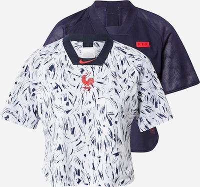 NIKE Funkcionalna majica | mornarska / rdeča / bela barva, Prikaz izdelka