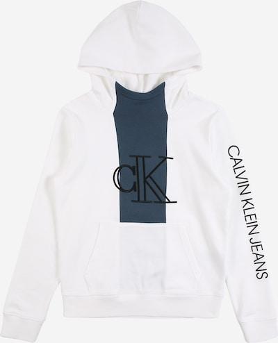 Calvin Klein Sweat en bleu-gris / noir / blanc, Vue avec produit
