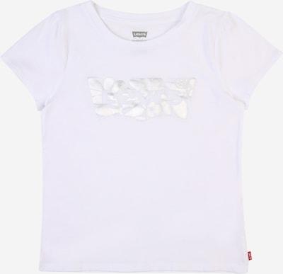 LEVI'S Тениска в сребърно / бяло, Преглед на продукта