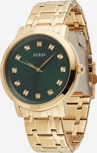 GUESS Uhr in gold / grün, Produktansicht
