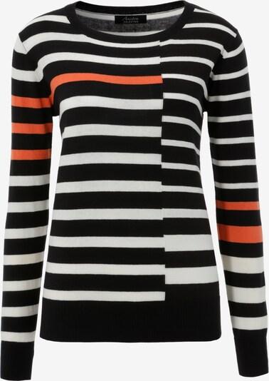 Aniston SELECTED Pullover in rot / schwarz / weiß, Produktansicht