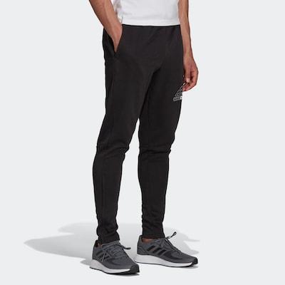 ADIDAS PERFORMANCE Sportske hlače 'Essentials' u crna / bijela, Prikaz modela